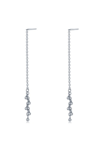 MBLife silver 925 Sterling Silver Dangle Beads Threader Earrings 4EB56AC3A7407FGS_1