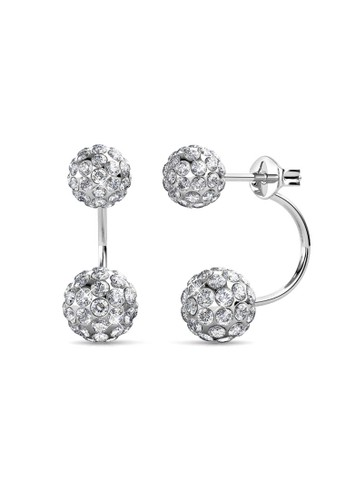 Her Jewellery silver Duo Spherical Earring - Anting Crystal Swarovski by Her Jewellery A7EC0AC434CC77GS_1