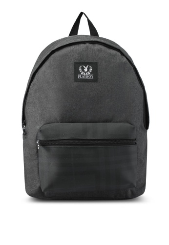 Playboy black Playboy Backpack With USB Charging Port PL371AC0SK0QMY_1