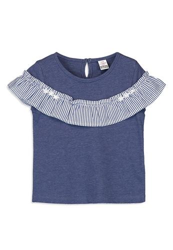 LC Waikiki blue Jersey Crew Neck Short Sleeve T-shirt 51EEEKA0B4A9EBGS_1