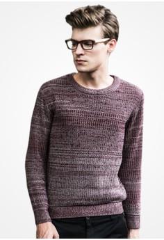 Mix Weave Gradient Sweater