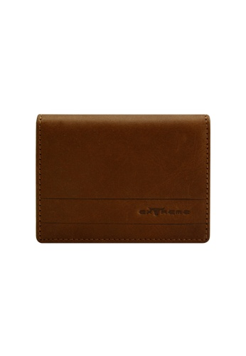 EXTREME brown Extreme Genuine Leather Card Wallet Bifold Multiple Slots Vintage Brown DBCCCACB976CE3GS_1