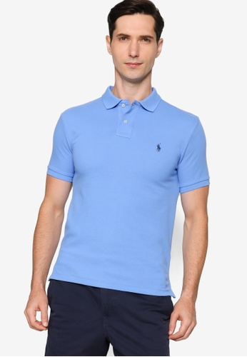 Polo Ralph Lauren 藍色 Slim Fit Short Sleeve Polo Shirt 24200AA24510BFGS_1