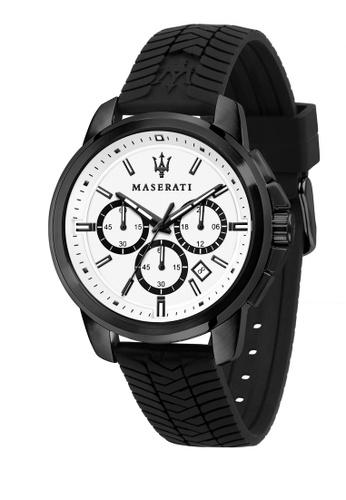 Maserati black Maserati Successo Black Silicon Band Watches Quartz Chronograph R8871621010 23F62AC9E8FBA2GS_1