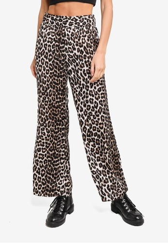 H&M black and multi Patterned Pants B06BCAA53688C0GS_1