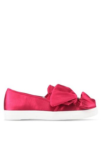 LOST INK pink Summer Ruffle Pearl Slip Ons LO238SH0SZ34MY_1