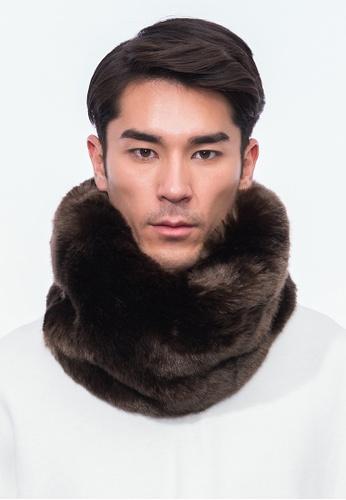 Alpha Style brown Jacey Vegan Fur Cowl AL461AC0H8XQSG_1
