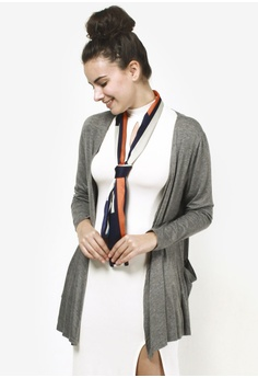 Jin Hayari grey Classic Pocket Cotton Cardigan JI299AA63USEMY_1