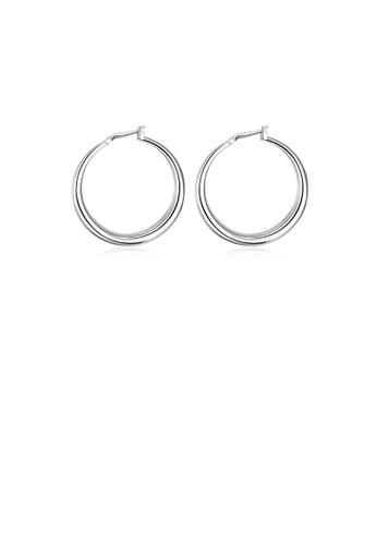 Glamorousky silver Fashion Round Earrings F1906AC2F1A424GS_1