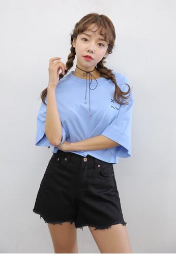 X 表情符號短版上衣, 韓系時尚, esprit retail梳妝