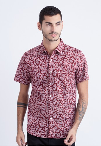 Minarno red Minarno Red Paisley Print 03 S/S Shirt 76D48AA9C70E5BGS_1