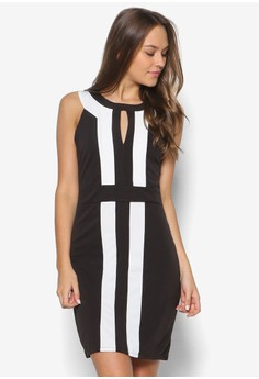 Monochrome Society Bodycon Dress