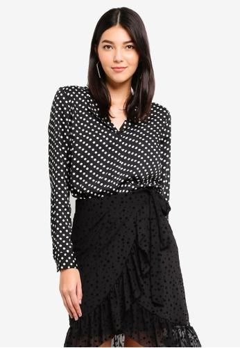 Pieces black Erika Long Sleeve Shirt BEB8BAA8D80BA5GS_1