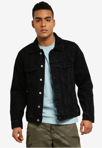 Abercrombie & Fitch black Denim Jacket E7C1AAA6504136GS_1