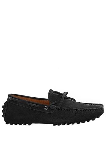 Twenty Eight Shoes 黑色 真牛猄皮休閒帆船鞋MC025 96331SH331A129GS_1