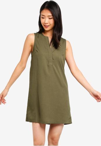 ZALORA BASICS green Basic A-Line Dress C0174AA15B29AAGS_1