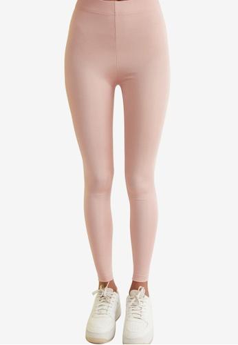 Trendyol pink Basic Shiny Disco Leggings F7FD7AA499D58FGS_1