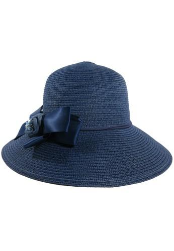 BALLIN blue Topi Wanita SHAPKI PITA BLUE BA843AC0UOW4ID_1