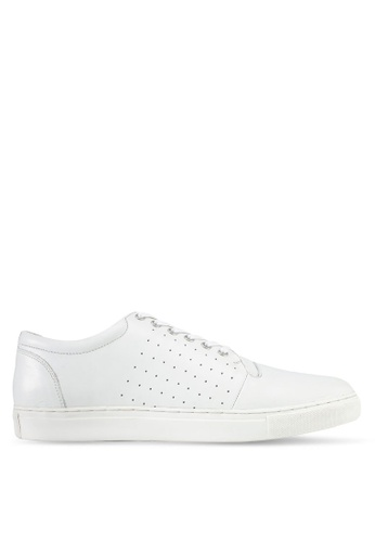 ACUTO white Leather Sneakers AC283SH0SL7LMY_1