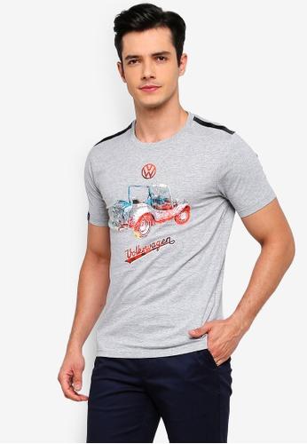 Volkswagen 灰色 短袖休閒T恤 44DE6AAAF56061GS_1