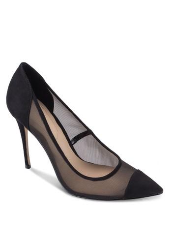 Crilla 網紗拼接尖頭高跟鞋, 女esprit 兼職鞋, 鞋