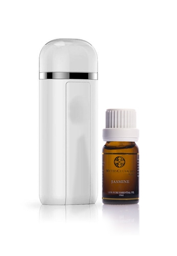 MYTHSCEUTICALS MC Aroma Therapy Spray Device Set ( 2in1 Power Bank Beauty Mist Hydrator  / Jasmine 100% Essential Oil ). MY152BE22INPHK_1