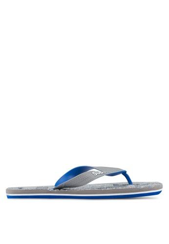 Superdry grey and blue Scuba Flip Flops SU137SH0SLOHMY_1