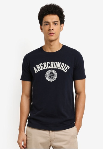 Abercrombie & Fitch navy Tech Legacy Applique T-Shirt 0A780AAEF0983FGS_1