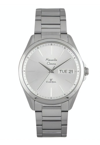 Alexandre Christie silver Alexandre Christie Jam Tangan Pria - Silver - Stainless Steel - 8592 MEBSSSL 3359CACFE9A66EGS_1