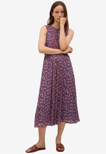 Mango pink Pleated Detail Dress 96D2CAAFAC189FGS_1