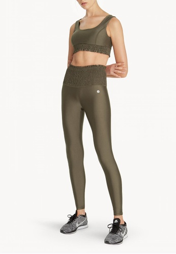 fd9a027f895d2 Shop Pomelo Zumba Ruched High Waist Leggings - Olive Online on ZALORA  Philippines
