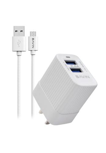 BAVIN white 2.4A Mini Portable Universal Wall Charger 92E7BACF2E33FBGS_1