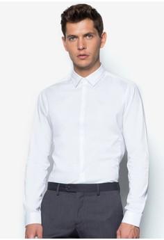 【ZALORA】 貼身商務長袖襯衫