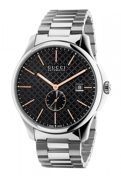 6a561ba1cc0 Gucci black and silver GUCCI Timeless Black Dial Stainless Steel Men s Watch  77CA9ACCDC2E7BGS 1