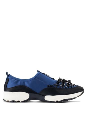 Carvela KG blue Lola Satin Sneakers CA459SH39XQAMY_1