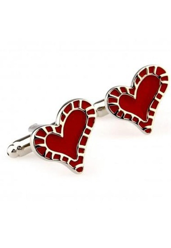 The Little Link Cufflinks red Full Hearts cufflinks TH089AC0G4XNSG_1