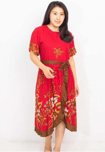 BATIK UNGGUL JAYA red UNGGUL JAYA BATIK DRESS KEKINIAN MODEL 003 MOTIF 368 RED 6DCD2AA603B4E5GS_1