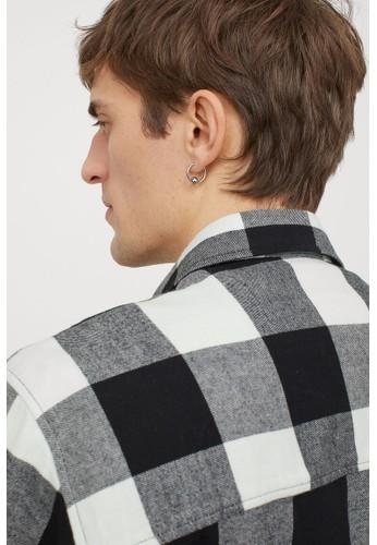 H&M green Cotton flannel shirt DE606AA3F77C76GS_1