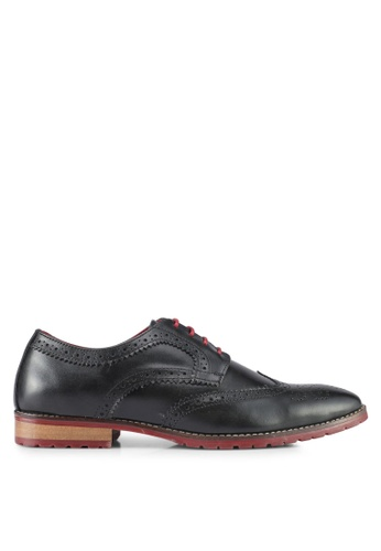 ACUTO black Leather Shoes AC283SH0SL7DMY_1