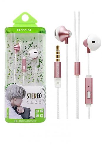 BAVIN pink Premium Headphone with Modern Streamlined Design 60672ACC4B3A28GS_1
