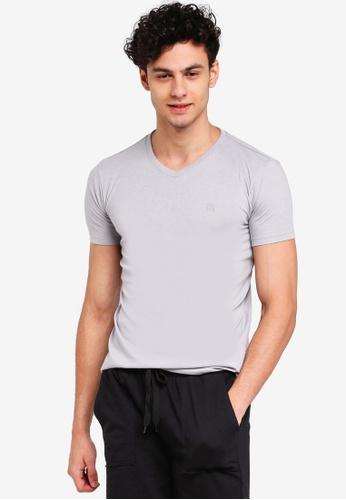 Penshoppe 灰色 短袖素色T恤 4B5E8AA8AD3225GS_1