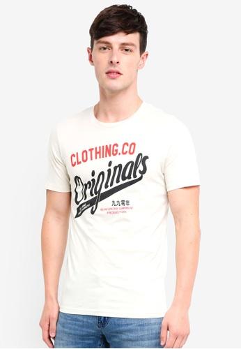 Jack & Jones 灰色 Art Newbright LOGO圓領T恤 A4238AABA8B161GS_1
