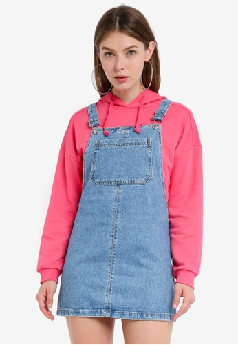 factory authentic most fashionable hot-selling professional Petite Denim Pinafore Dress