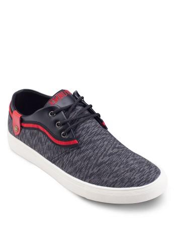 仿皮拼接繫帶休閒esprit mongkok鞋, 鞋, 鞋