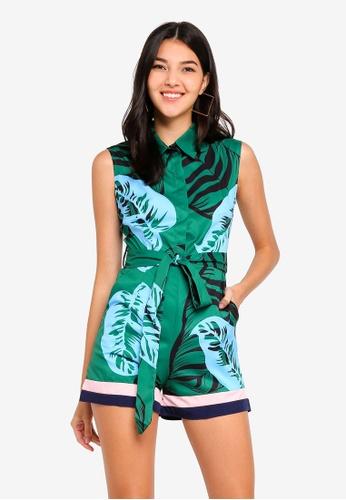 1b7d93027d10 Megane green Best Frenz Nizhoni Floral Print Romper 2E64DAAFC0B159GS 1