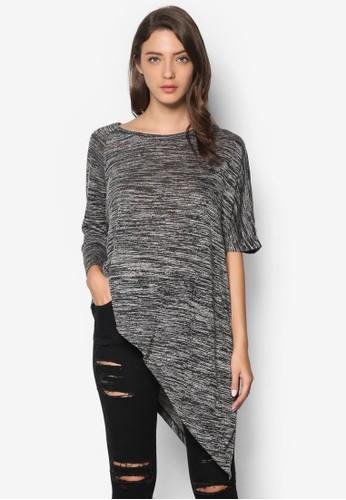 不合錯誤稱袖子斜下擺T-shirt、 服飾、 上衣SomethingBorrowed不合錯誤稱袖子斜下擺上衣最新折價