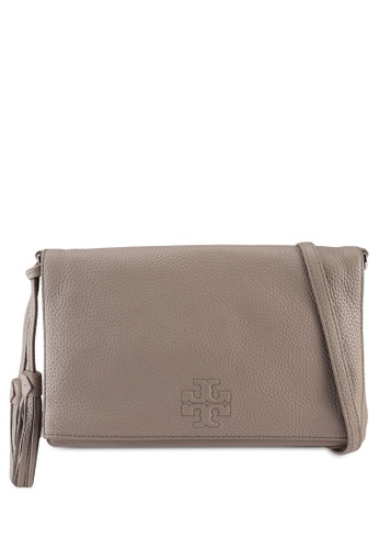 TORY BURCH 灰色 Thea Foldover Crossbody Bag (NT) 3EBC5ACCF1DA1AGS_1
