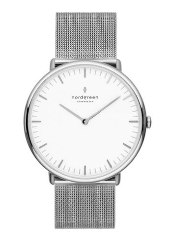 Nordgreen silver Nordgreen Native Silver 36 mm - Silver Mesh Watch A8860AC83ED14FGS_1