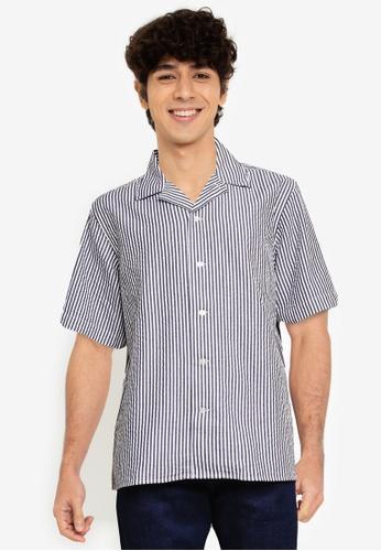 Banana Republic blue Organic Resort Shirt 799B9AA839C6D2GS_1