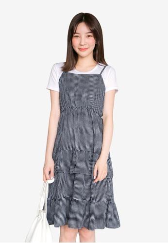Tokichoi blue Ruffled Slip Dress 75051AAA0B970DGS_1